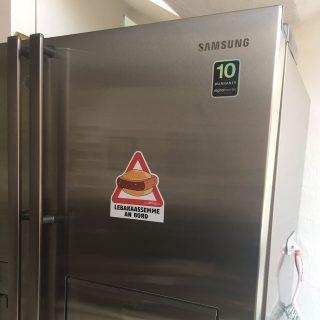 Kühlschrankaufkleba